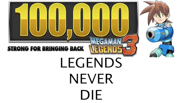 100000 For Mega Man Legends 3