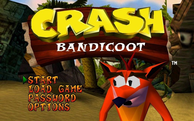 Crash Bandicoot 1 - Main Menu