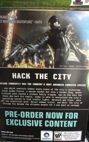Watch Dogs Poster Back