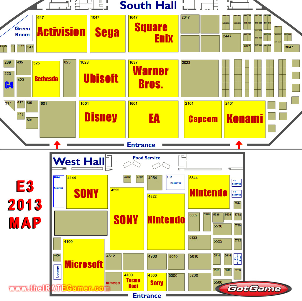 E3 2013 Floor Map