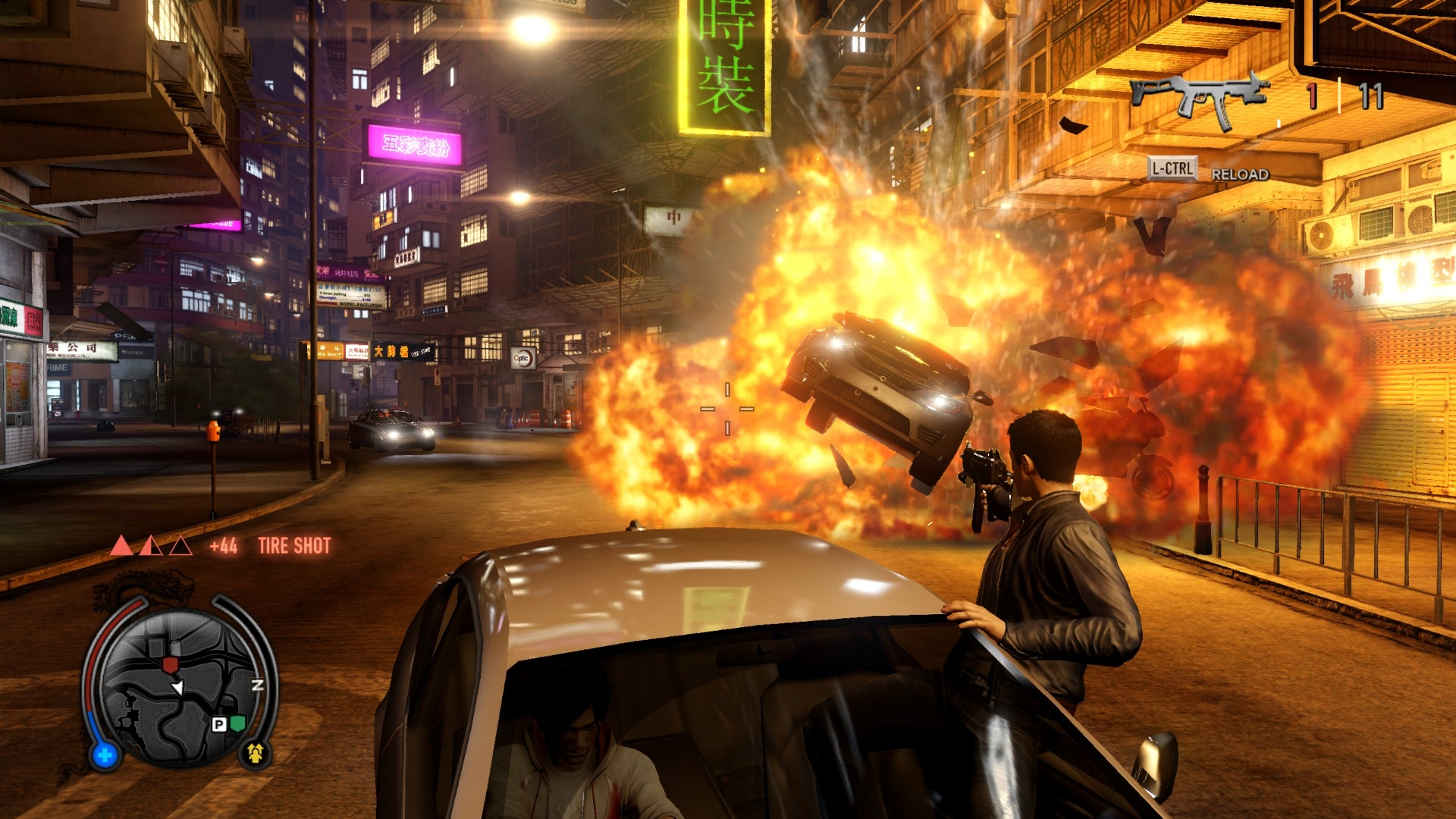 Sleeping Dogs Driving Shooting Level