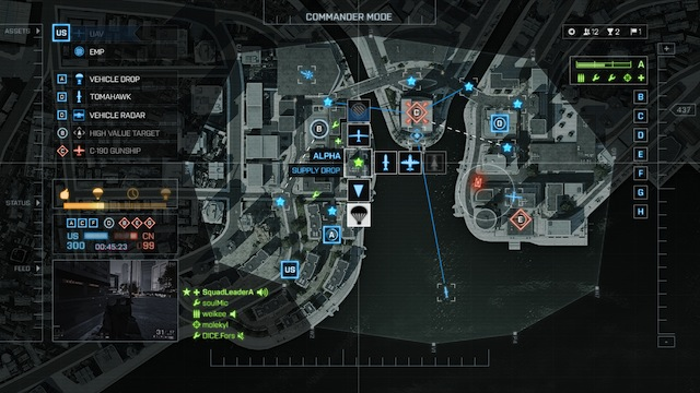 Battlefield 4 Commander Mode Screens