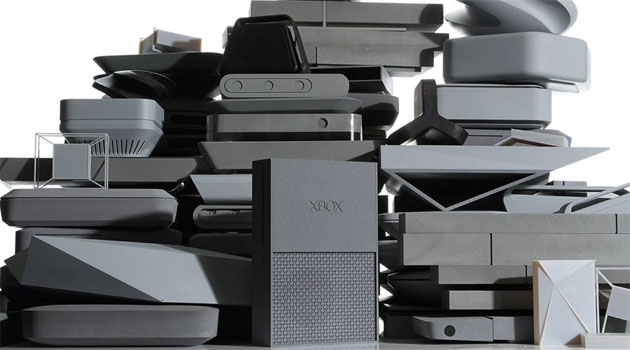 Stack of rejected Xbox One designs.