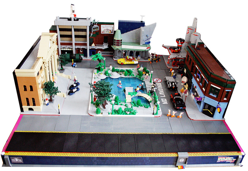 Hill Valley Back to the Future Lego