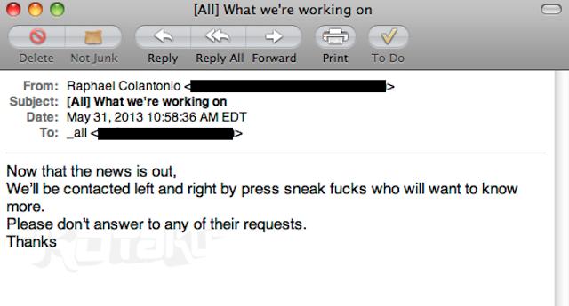 Leaked email regarding Prey 2