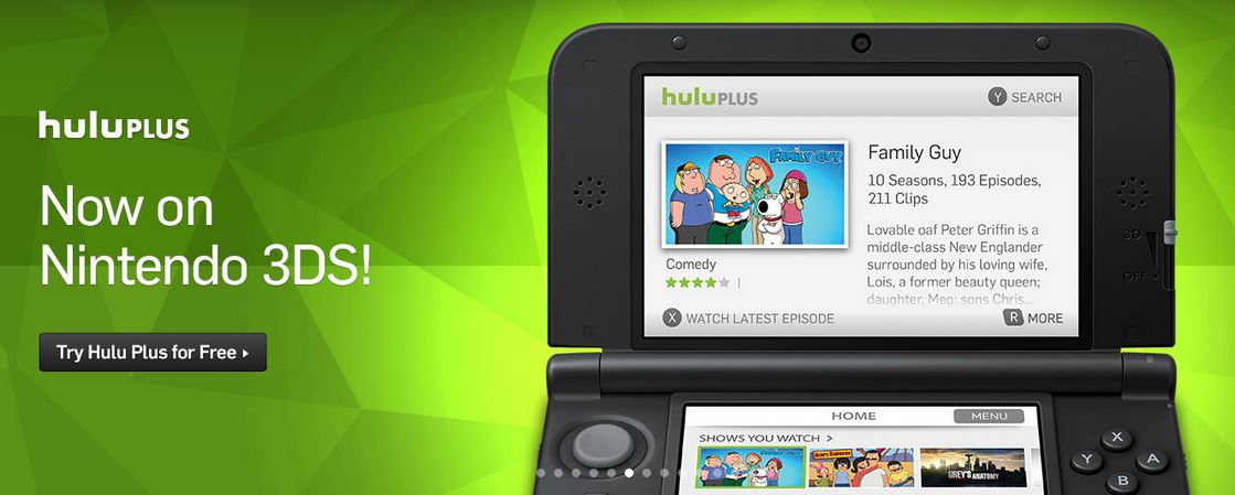 Hulu Plus on 3DS