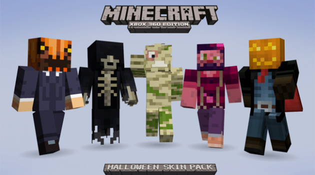 Minecraft 360 Halloween texture pack revealed.