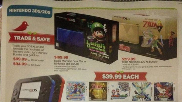 Reportedly leaked Gamestop ad reveals Link Between Worlds 3DS coming stateside.