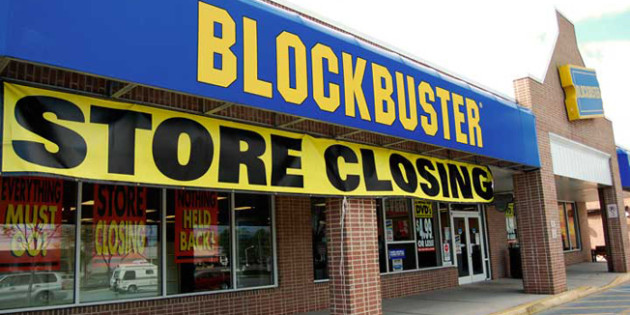 Blockbuster to close all stores in US by early January 2014.
