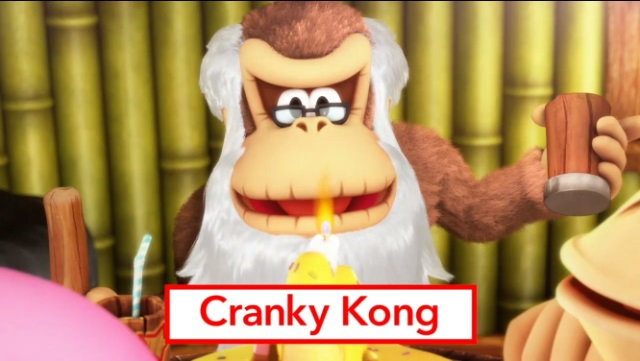 Cranky Kong joins the cast in Donkey Kong Country ...