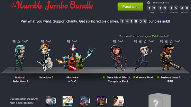 Humble Jumbo Bundle contains $165 value.