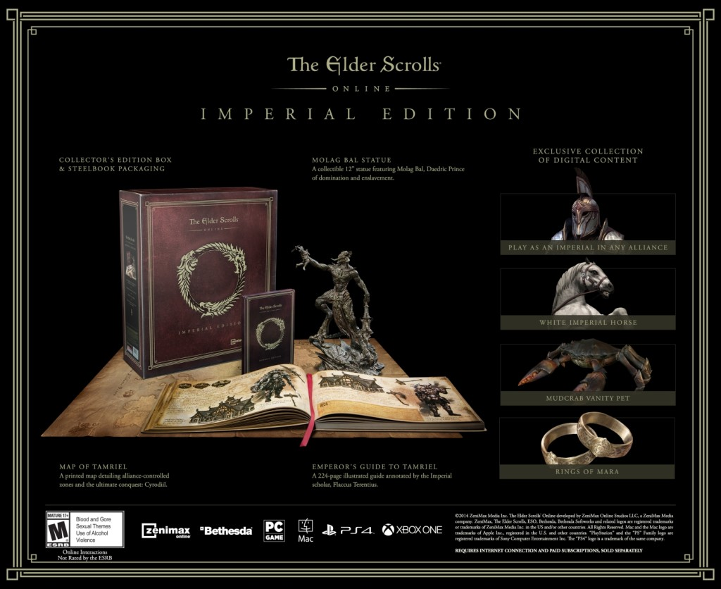 Elder Scrolls Online Imperial Edition (physical) contents.
