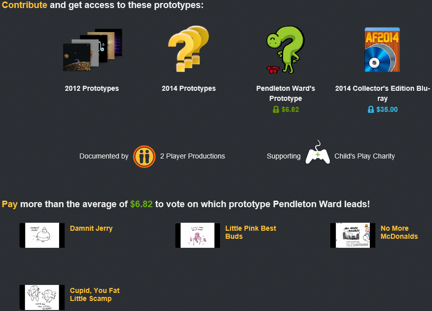 Help Double Fine decide what prototypes to work on.