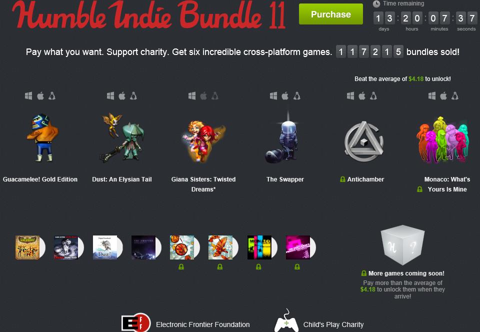 Humble Indie Bundle 11 includes several hit titles.