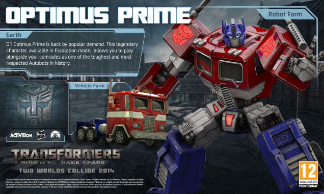 "The Original Optimus Prime is back ""By popular demand""."