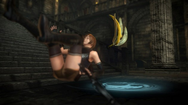 One of the game's humiliating traps? A banana.