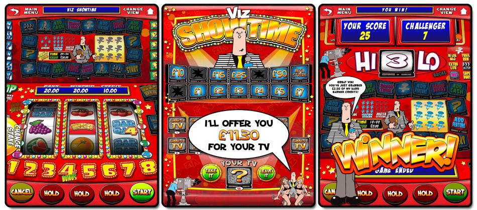 VIZ Showtime is a digital fruit-machine.
