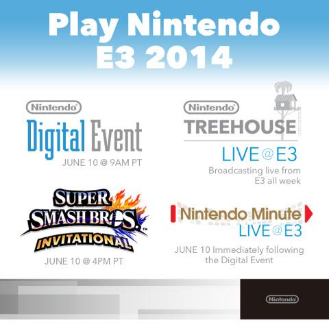 Nintendo E3 streamed events to include Super Smash Bros. Invitational and more.