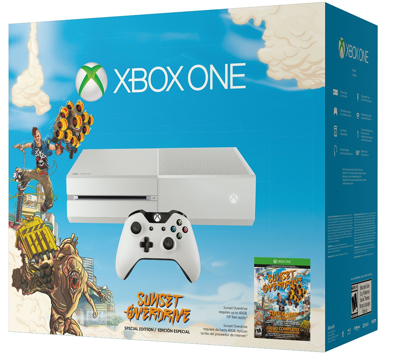 Sunset Overdrive and COD: Advanced Warfare Xbox One bundles announced ... Xbox One White Console Sunset Overdrive