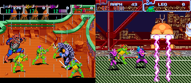TMNT: Turtles in Time (Arcade) vs TMNT: Turtles in Time (SNES)