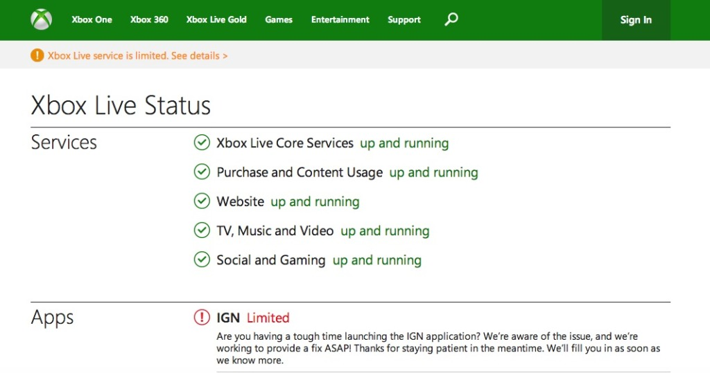 Xbox Live status | just b.CAUSE