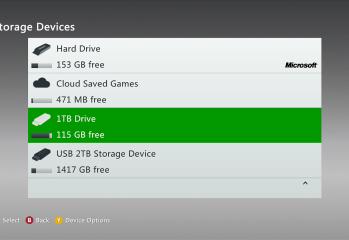 xbox 360 external hard drive support