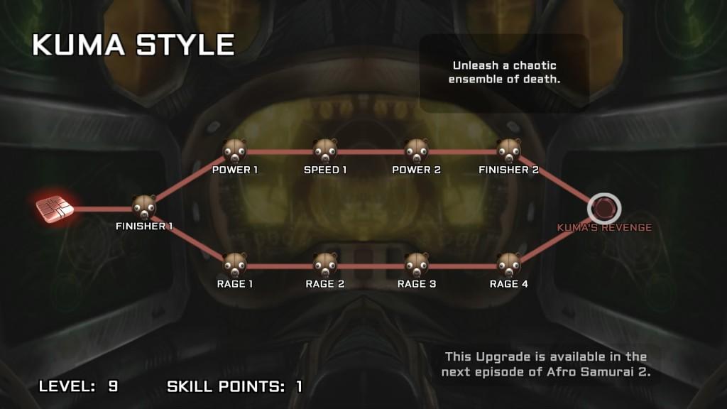 Afro Samurai 2: Revenge of Kuma - Skill Tree