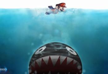 video games mario super mario sharks swimming jaws_wallpaperswa.com_50