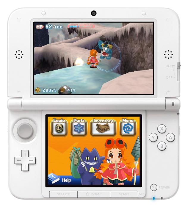 Gurumin 3DS in frame 10